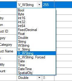 data type dettaglio