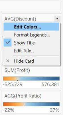 Editare i colori della Separate Legend