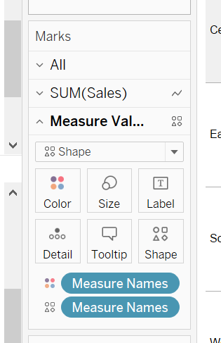 Formattazione Measures Values