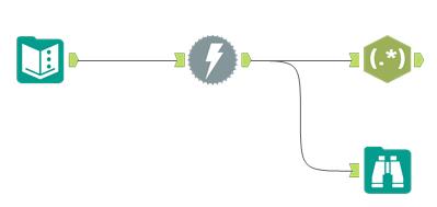 Prima fase del vecchio metodo del flusso di scraping con Alteryx: Download e Parse